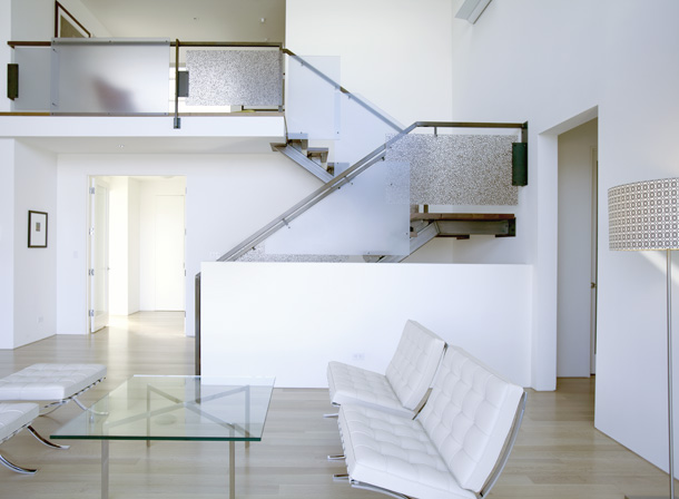 top level stair view